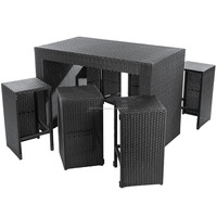 Poly rattan garden outdoor furniture multi funtion bar set and day bed