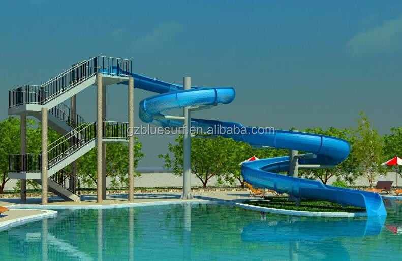 Wholesale fiberglass swimming pool water slides for sale - Commercial swimming pool water slides ...