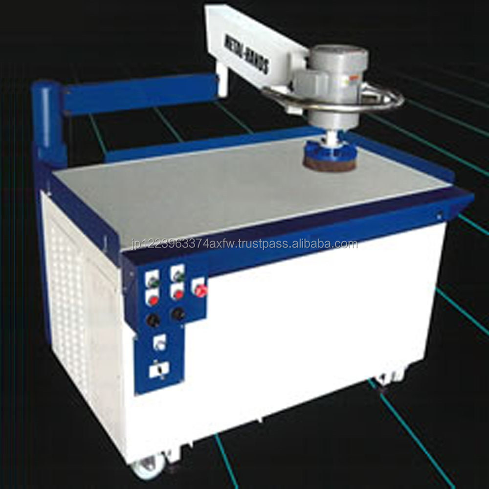 Easy operation space saving METAL-HANDS hand deburring machine with wheel abrasive