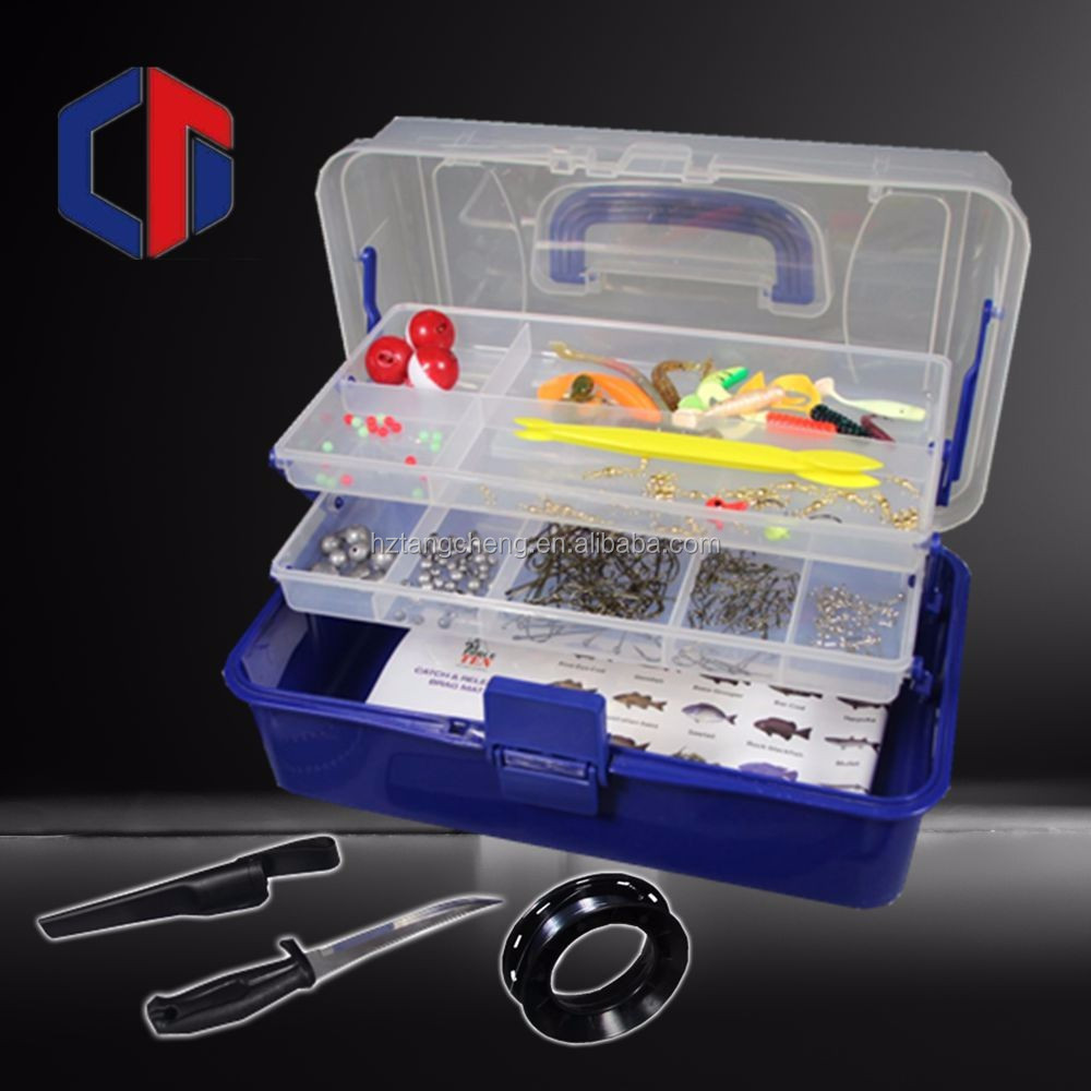 New product 300pc complete fishing tackle kit fishing lure for Fishing tackle kits