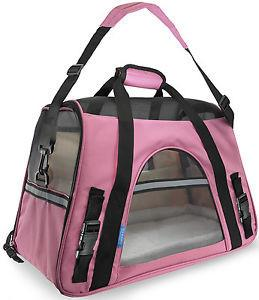 Soft Sided Pink Travel Bag - For Dogs
