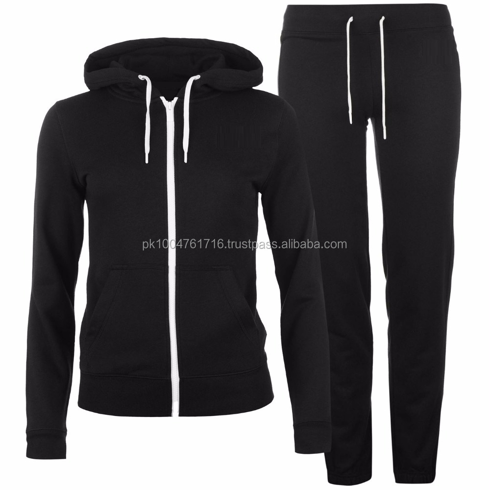 New Club Out Fit Warm Up! Ladies Tracksuits Zip Up Hoodies Black Super Skinny Joggers Fit Gym Joggers.