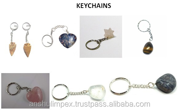 Lapis Lazuli Tumbled Stone Keychain as souvenir, collectible and healing