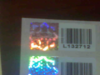 Holographic Labels with Barcode and Running Numbers Label/ Stickers