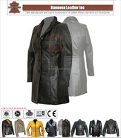Long ladies leather coat/jacket, imported sheep skin, full sleeves