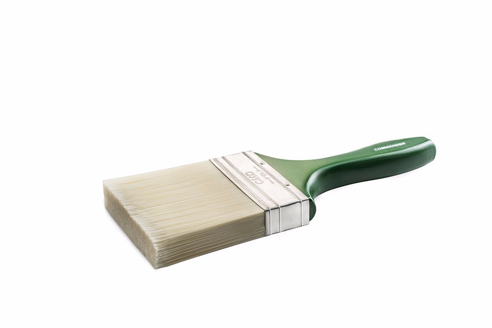 COMMANDER PAINT BRUSH, SYNTHETIC FILAMENT, EXCELLENT VALUE, MASONRY, WOODEN OR PLASTIC HANDLE, 2'' 3'' 4'', 5''