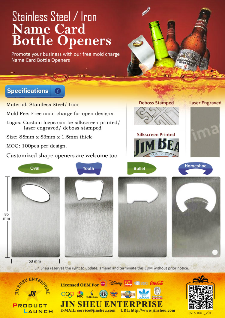 Wholesale Wallet Size Stainless Iron Cheap Spades Ace Poker Playing Card Bottle Opener