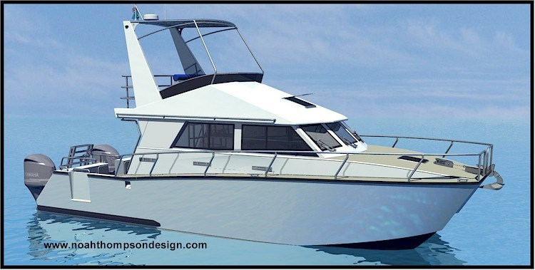 10.9m Hydrofoil Assisted Power Catamaran Dive Boat