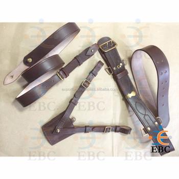 officer leather sam browne belt adjustable duty