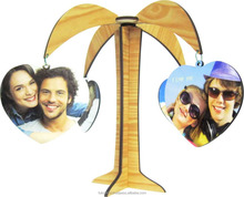Sublimation blank decoration MDF wood photo frame coconut tree