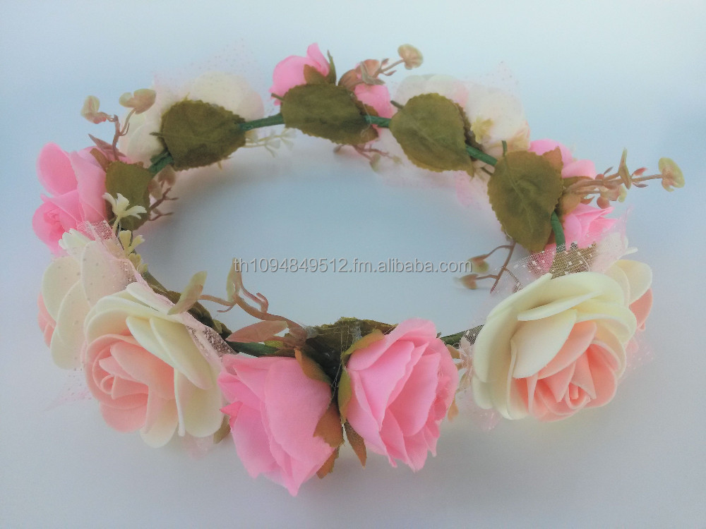 Flower Crown, Hair Hairband, Handmade Fashionable Hair Accessories for Children and Adults