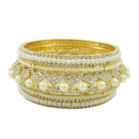 Bollywood Designer AD Stone Bangles/ Kada Set Traditional Jewelry 2*6 -ADB24A