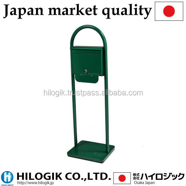 Color mailbox An arch stand and independence base set Green Japanese market products