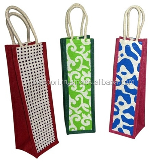 High quality wine small jute gunny recycling bag india for packing