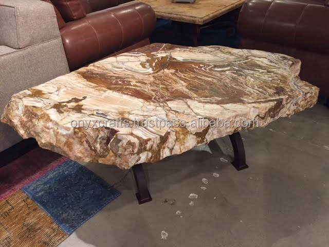Irregular Shape Onyx Stone Table Top in Wholesale