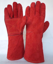 Split Leather Welding Glove Long Cuff Welder Metalwork Protective Gloves/Best quality by taidoc