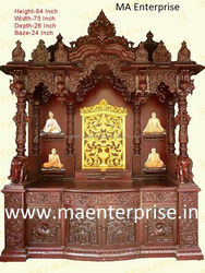 Beautifull wooden temple design for home