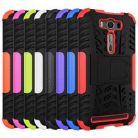 Newest Hybird antiskid tyre heavy duty silicone shockproof protective case with stand for Asus zenfone 2 Laser ZE500KL 5.0""