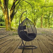 synthetic rattan cocoon swing