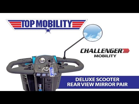 Challenger Mobility Deluxe Scooter Rear View Mirrors J400 Delta Tiller Pride, Golden, Drive