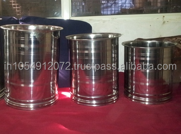 Stainless steel drum, pail or container