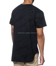 Elongated t shirts-Custom Cotton Long Tail T Shirt/Mens Hipster Hip Hop Lightweight Longl...