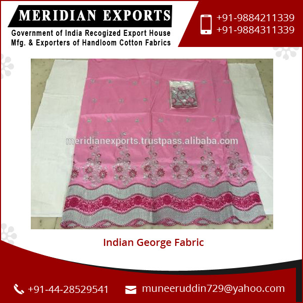 Top Ranked Manufacturer Supplying Tested Quality Indian George Fabric for Bulk Purchase