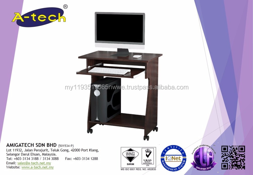 A-Tech - CT 6910 Malaysia Table PC computer Case Wooden Computer Table Design
