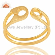 Supplier of Gold Vermeil 925 Sterling Silver Handmade Stackable Ring Jewelry Manufacturer