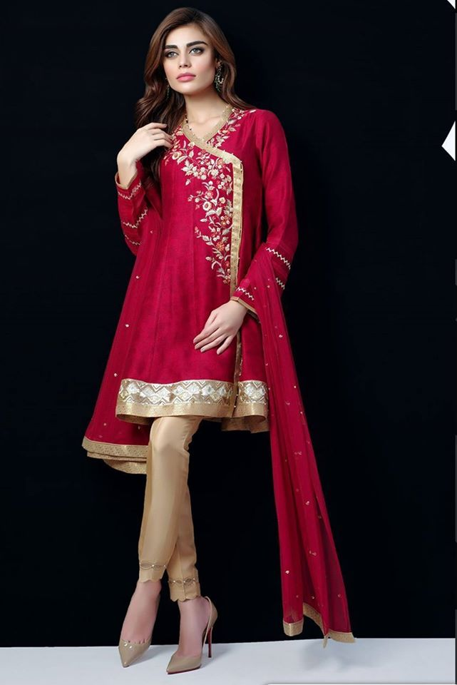 Hot Red Angrakha Style Dresses For You