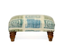 Natural Livings Cotton Printed Rug Upholstered Footstool