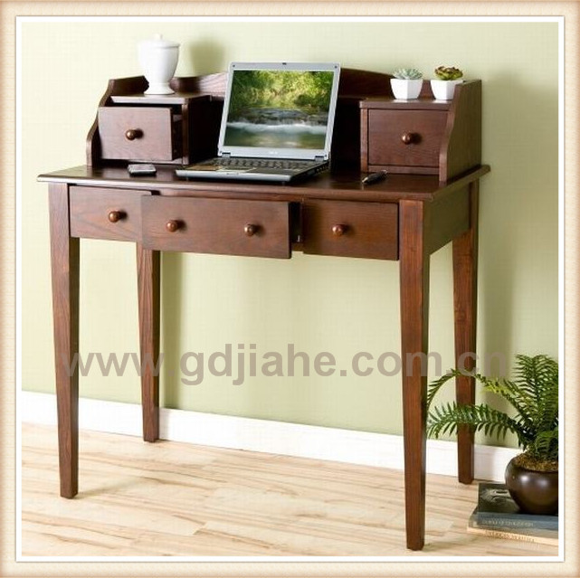 Luxury walnut computer desk with drawer computer table for Luxury computer desk