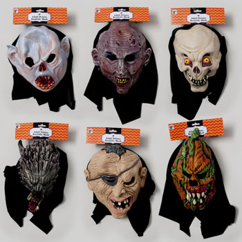 MASK DELUXE REALISTIC 6ASST W/HOOD ADULT MASKS #G89084