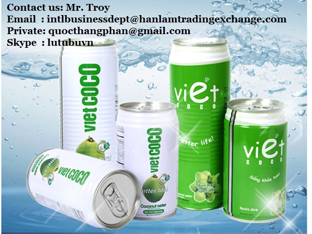 Vietnam canned coconut water 100% pure