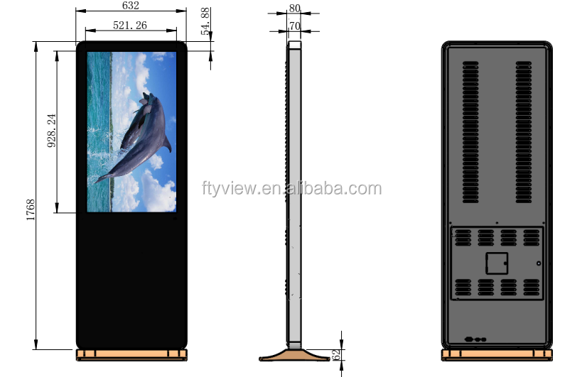 Hot sale 42 inch indoor digital signage player