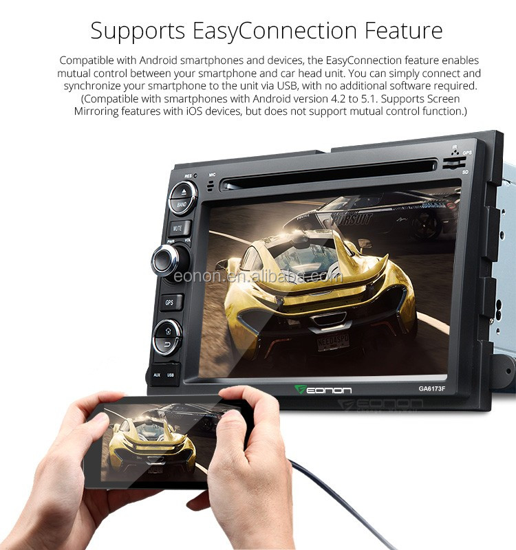 EONON GA6173F for Ford F-150 Android 5.1.1 Lollipop 8 inch Multimedia Car DVD GPS with Mutual Control EasyConnection