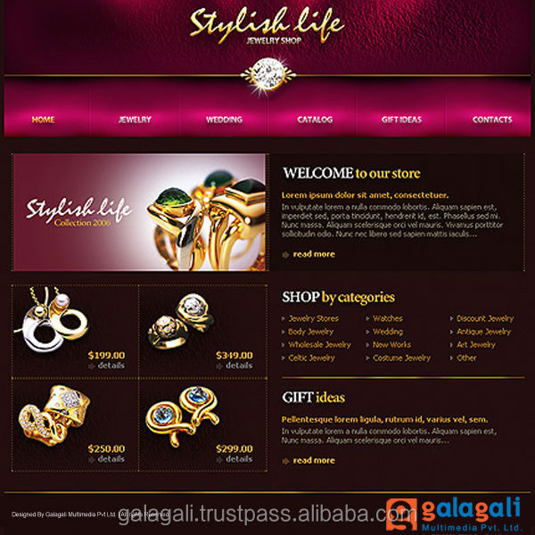 CMS eCommerce Web Design and Development for Jewellery and Diamonds