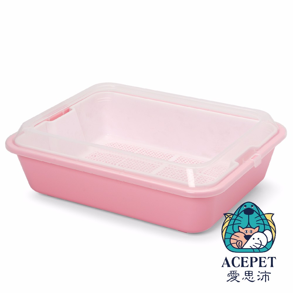 Cat Litter Box with Sieve and Scoop Cat Litter Pan