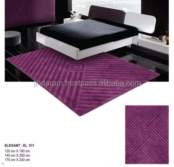 Classy handtufted cotton carpets for hotels