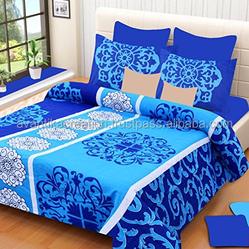 Jaipuri Traditional Sets Double Bed Sheets With 2 Pillow Covers Bedding Set