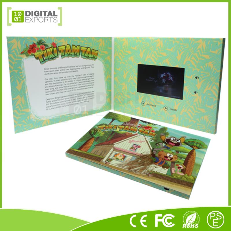 New design video book with usb, digital video cards, digitail video brochure
