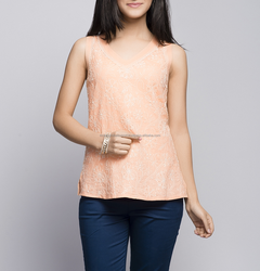 Cotton Plain All Over chikankari Top for girls