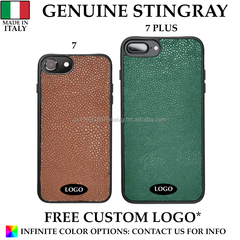 Genuine Italian Stingray Leather Mobile Phone Case Made in Italy