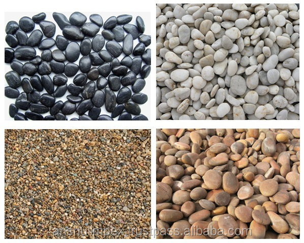 Black Colored Dyed Pebble Stones for decoration