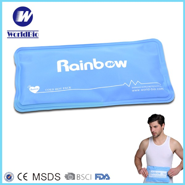 Nylon reusable hot or cold gel ice packs with customized Logo (28*13 cm)