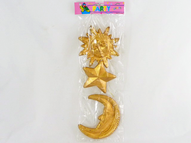 DECORATION, PLASTIC STAR, MOON AND SUN, #90-096