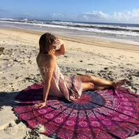 Mandala Mantas Indian Roundies Wholesale Mandala Tapestry Cotton Bedspread Hippie Bedding Throw Beach Blanket Mandala Tapestries