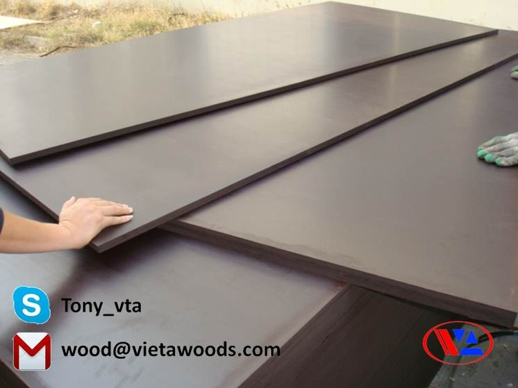 phenolic film coated plywood for construction formwork from Viet A supplier in Vietnam