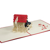 Popup handmade Vietnam card/FS011-Dog House/ Kirigami art 3d card for birthday/