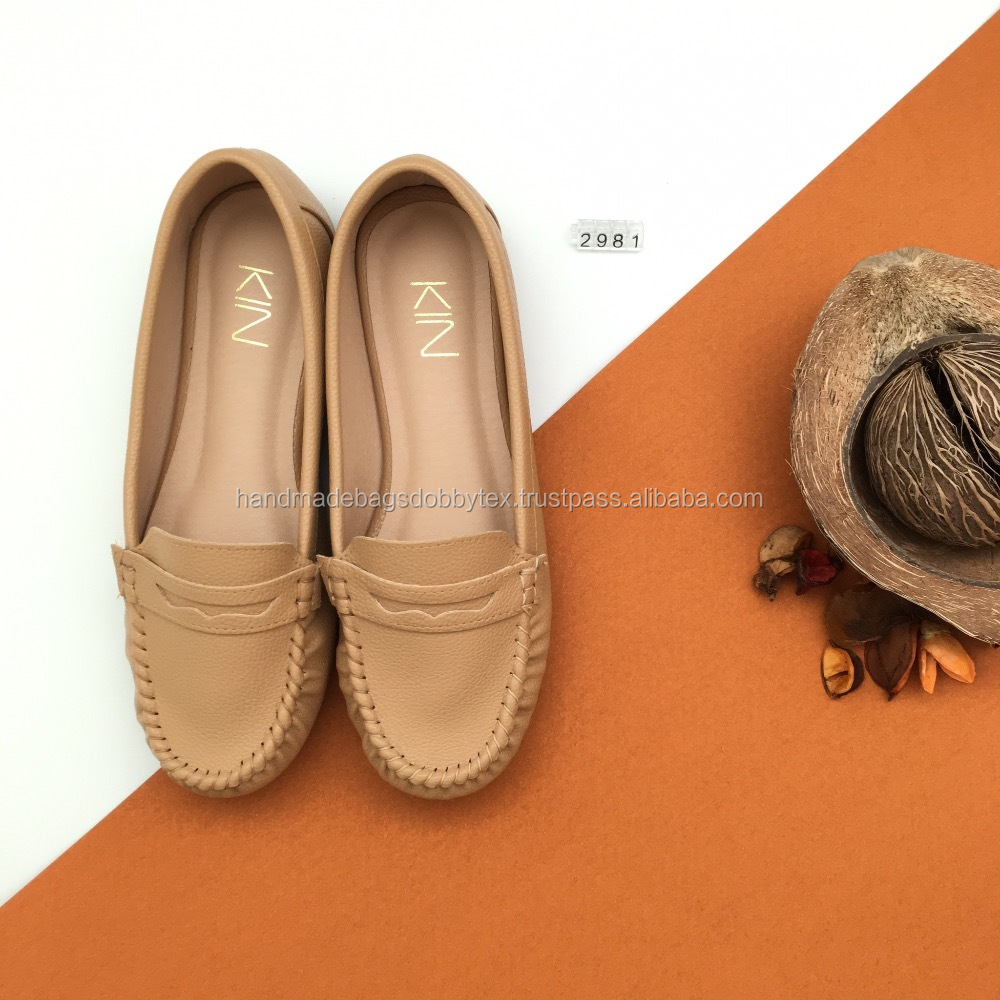 High Quality Handmade PU Slip On Shoes
